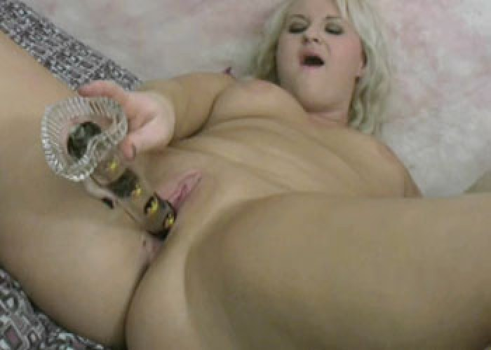 Chubby blonde Ivy plays with her toys